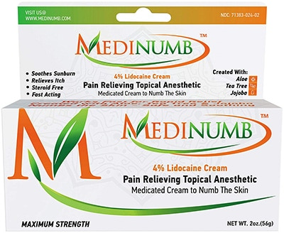 Topical Anesthetic for Laser Hair Removal - Medinumb