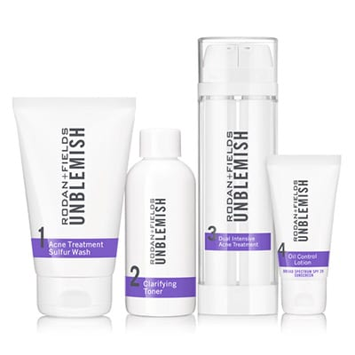 Rodan and Fields Unblemish Regimen for Acne and Post Acne Marks