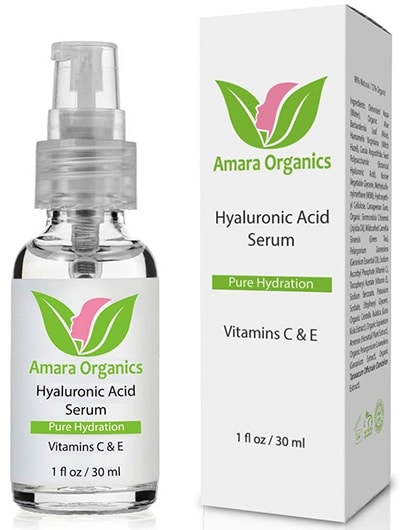 Vitamin C HA Serum for Skin By Amara Organics